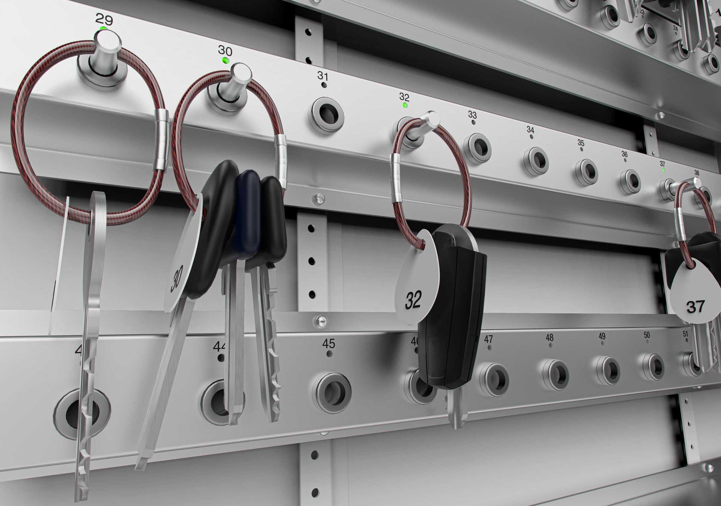 Der IntelliPin-Schlüsseltransponder bietet Ihnen die umfassende Kontrolle über Ihre Schlüsselaufbewahrung.
