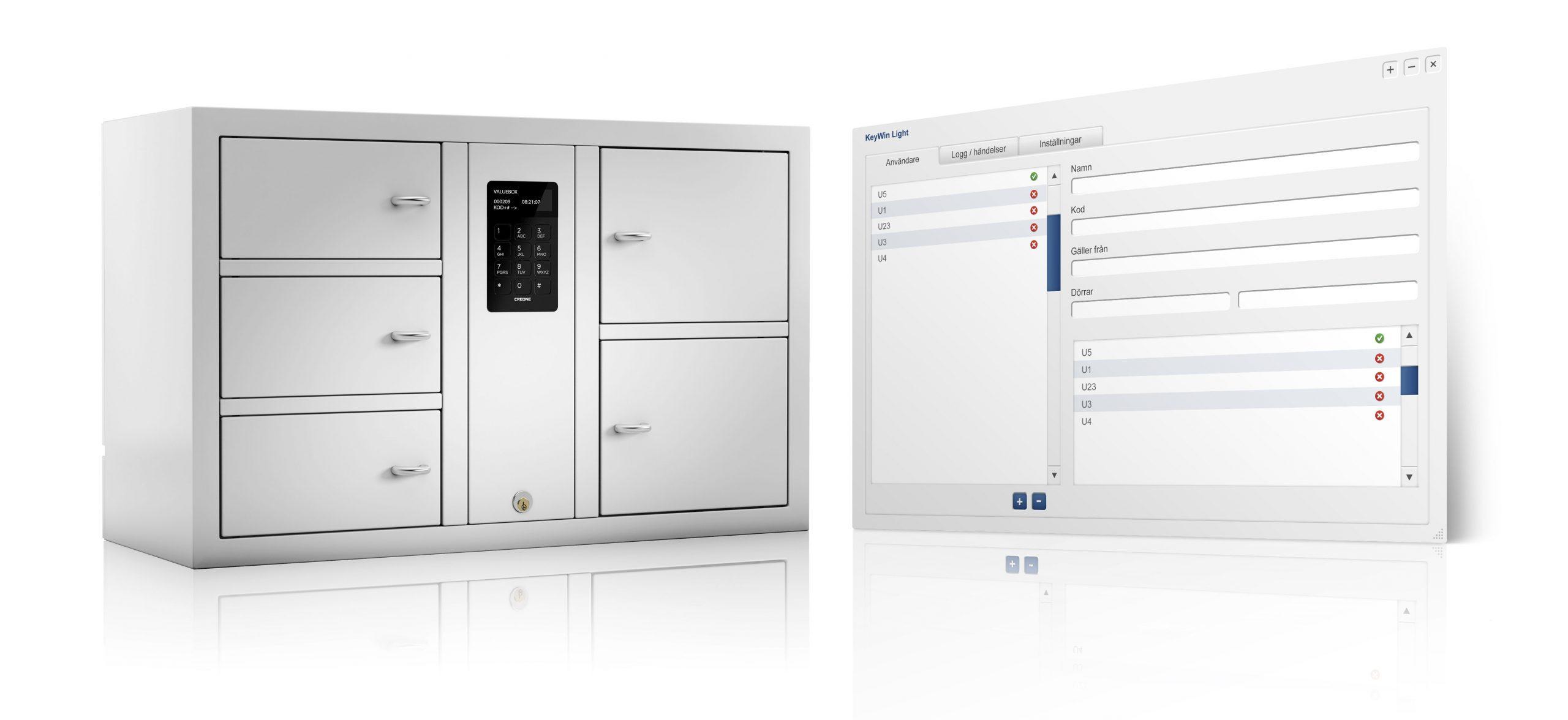 Wertsachenverwaltung mit dem ValueBox Wertschrank 7006 S mit der Software KeyWin Light