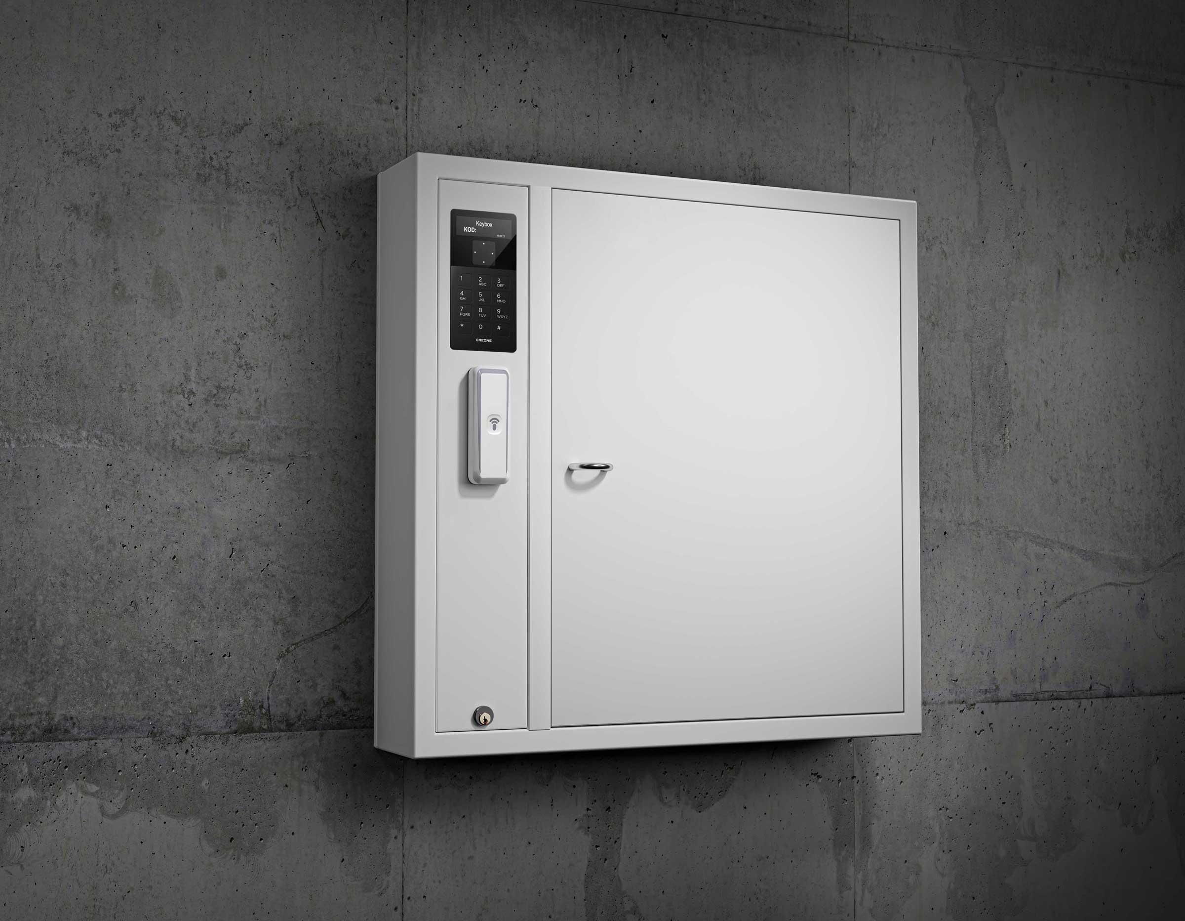 Schlüsselschrank 9500 SC aus der Keycontrol-Serie. Zeigt den Zugriff auf eine Alkoholsperre, die die Schlüsselverwaltung organisiert.